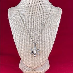 """Cookie Lee stamped Sparkle Necklace 16"""" chain"""